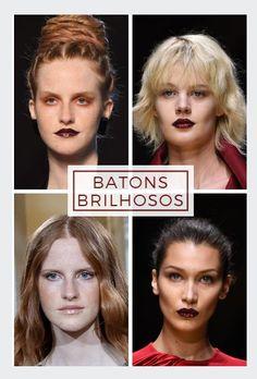 6bc9708d5 Laqueado, cremoso ou com glitter: batom brilhoso é tendência de beleza da  semana de Alta-Costura de Paris