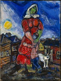 Marc Chagall (1887-1985). Mother and child