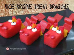 Chinese New year treat ideas, Chinese New Year Lunar new year dragon, Dragon Rice Krispie Treats, Chinese New year dessert ideas, cute food, fun food for kids, sweet treats