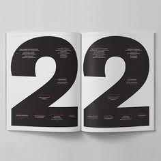 contents spread elephant magazine issue 22  / design: Atlas