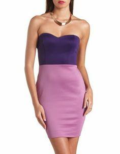 color block bow-back bodycon dress