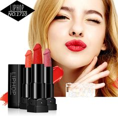 Liphop Brand 6 Colors Penis Shape Lipstick Long Lasting Moist Cosmetic Beauty Vampire Kiss Lips Makeup Batom Pop Matte Lipstick