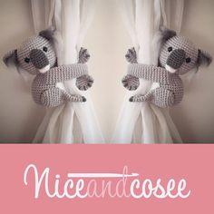 Best 12 Curtain tie back koala crochet PATTERN tieback left or Crochet Toys, Crochet Baby, Magic Ring Crochet, Yarn Sizes, Single Crochet Stitch, Curtain Tie Backs, Crochet Round, Double Knitting, Knitting Yarn