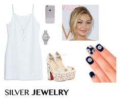 """""""Baby Blue w/ Silver Accents"""" by gchuck ❤ liked on Polyvore"""