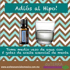 Dile adiós al molesto #hipo!! Rápido, natural y efectivo!; con #aceite_esencial #menta #doTERRA