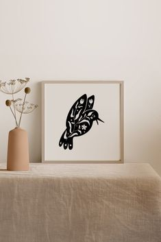 Bird Silhouette Art, Abstract Shapes, Boho Drawing, Minimalist Poster, Spring Mood, Modern Wall Art, Art, Abstract, Minimalist Art