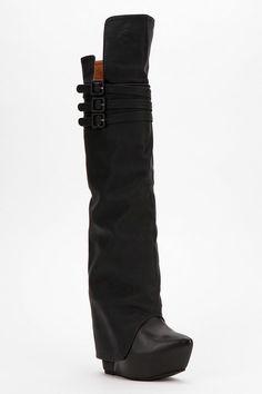Jeffrey Campbell Zealot Over-The-Knee Wedge Boot  #UrbanOutfitters