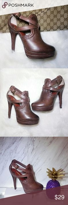 🌹 Max Studio Brown Heels Boots Sandles 8 Leather Hotter than ever this season! A dose of chicness to your everyday wardrobe. Comfortable go with just about everything. Super easy to dress them up or down. Absolutely stunning   . Size 8  . Brand Max Studio   . Condition Good minor Wear Shown  . Color Brown   . Bundle & SAVE 25% off 🍍  . Reasonable offers welcome😃  No additional shipping charge when you purchase more from my closet   Every purchase will be packed with Care & a Special FREE…