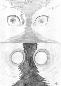 naruto trasformazione volpe a nove code occhi (naruto shippuden)
