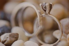 Organic Wedding Rock and Band Ring