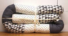 Nestchen - Bettschlange offwhite/grey 100%GOTS - ein Designerstück von Sabrina-PA bei DaWanda