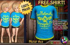 [SKM] FREE GIFT Motor Ace Half Sleeve Mesh Shirt