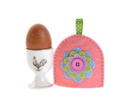 Folk felt egg cosy