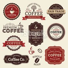 Coffee Labels Royalty Free Stock Vector Art Illustration
