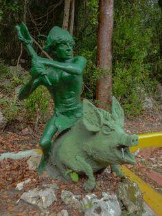 Aterradoras esculturas ubicadas en la Cueva del Jabalí, #CayoCoco