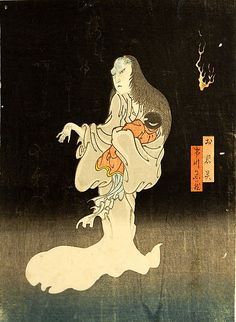 Enjaku (Japanese). Ichikawa Yonezô as the Ghost of Oiwa, 1865. Japan. The Metropolitan Museum of Art, New York. Purchase, Friends of Asian Art Gifts, in honor of James C. Y. Watt, 2011 (2011.152) #ghost #Halloween