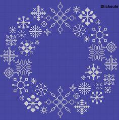 Snowflake Cross Stitch-I want Xmas Cross Stitch, Cross Stitching, Blackwork Embroidery, Cross Stitch Embroidery, Cross Stitch Designs, Cross Stitch Patterns, Christmas Embroidery Patterns, Cross Stitch Freebies, Christmas Cross
