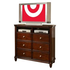 Dylan Dark Cherry 6-Drawer Media Chest - Elements International