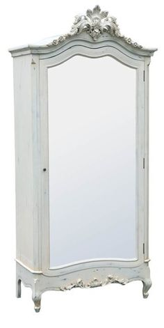 Parisian Mirror Fronted Armoire - Chic Boutique Interiors - Lighting , furniture, chandeliers http://www.chicboutiqueinteriors.co.uk