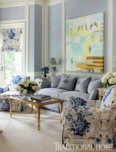 Beautiful Seashell Blue Walls for that cute beach cottage look