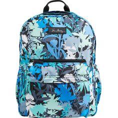 Vera Bradley Lighten Up Grande Backpack ($83) ❤ liked on Polyvore featuring bags, backpacks, green, school & day hiking backpacks, vera bradley, polyester backpack, logo bags, vera bradley bags and lightweight daypack