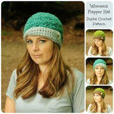 Crochet Pattern Hat Pattern Womens Flapper Hat by SimplyMadeByErin, $5.00 For Danielle