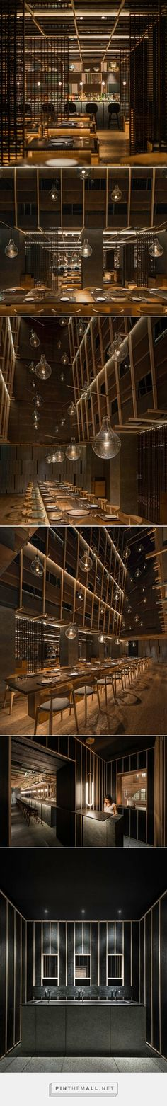 neri & hu evokes an abstract landscape in chi-q korean restaurant in shanghai - created via http://pinthemall.net:
