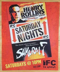 2006 The Henry Rollins Show IFC Channel Illustration Art Vintage Magazine Ad