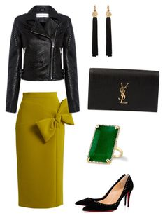 """""""'Meeting your ex'"""" by mercedesztrum on Polyvore featuring Roksanda, IRO, Christian Louboutin and Yves Saint Laurent"""