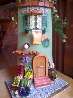 Decoupage, Clay Wall Art, Tile Crafts, Gnome House, Clay Tiles, Fairy Houses, Framed Wall Art, Terracotta, Basket