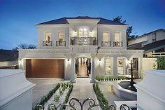 60 Most Popular Modern Dream House Exterior Design Ideas - Ideaboz Villa Plan, Modern Mansion, Modern Homes, Dream House Exterior, Luxury Homes Exterior, Facade House, House Facades, House Exteriors, Classic House