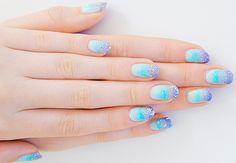 Manicure beauty high nail art diy, glitter nail art, diy nails, cute na Glitter Nail Art, Nail Art Diy, Diy Nails, Cute Nails, Nail Lacquer, Nail Polish, Spring Nail Colors, Spring Nails, Cool Nail Designs