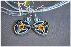 Ohrhänger Ohrringe Geo Quilling Papier  von Liebeabies auf DaWanda.com