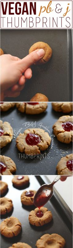 Vegan P&J Graham Cracker Thumbprints! @Dana Shultz | Minimalist Baker