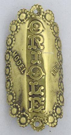 Oriole Bicycle Head Badge bike Name Plate antique original old vintage in Bicycle Parts | eBay