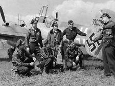 WWII B&W Photo Luftwaffe Me110 Captured  WW2 / 6059