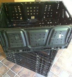 Wholesale Lot Of 10 Stackable & Foldable Crates  SKU#29N (All Offers Welcome) #IFCO