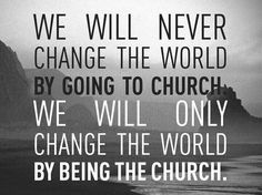 """This doesn't mean we shouldn't go to church, of course. We aren't to """"forsake the assembling together as some are accustomed to doing"""" as the Bible says (warns), because there are many benefits! We build each other up in our faith, encourage each other & pray for each other, pray for others, our communities, country, etc. We worship together, serve together, learn together, fellowship together. We need this time, and we welcome others to join us, too. What we do is take what we learn…"""