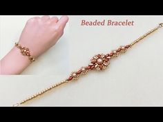 DIY Beaded Vintage Bracelet with Bronze Red and Gold Two Hole Superduo Beads and Gold Pearls 复古风串珠手链 Super Duo, Handmade Bracelets, Handmade Jewelry, Beaded Jewelry, Beaded Bracelets, Bronze, 14k Gold Necklace, Jewelry Model, Butterfly Pendant