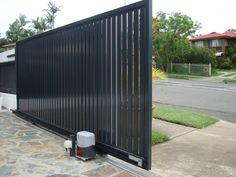 Sliding gate motor #gate #automaticgate #residentialgate #blackgate #slidinggate