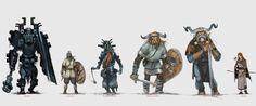Арт игры в стиле скандинавской мифологии The Banner Saga