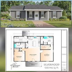 1200sq Ft House Plans, Small House Floor Plans, Pole Barn House Plans, Cabin Floor Plans, Bedroom Floor Plans, Pole Barn Homes, Open Concept House Plans, Small House Layout, House Layouts
