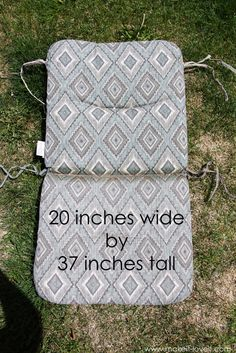 Make Your Own REVERSIBLE Patio Chair Cushions