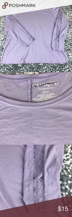 Lane Bryant Purple Lavender Lace L/S Top 220B4 NEW Lane Bryant Plus Size 22/24 Purple Lavender Lace Long Sleeve Sleepwear Top Lane Bryant Intimates & Sleepwear Pajamas