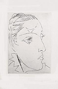 Portrait de Femme (Dora Maar) by Pablo Picasso, 1936 Pablo Picasso, Picasso Drawing, Picasso Art, Picasso Paintings, Picasso Prints, Picasso Portraits, Dora Maar, Spanish Painters, Musa