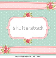 Vintage Floral Frame With Roses In Shabby Chic Style Stock Vector ...