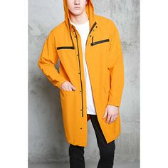 Forever21 Zippered Utility Jacket (€35) ❤ liked on Polyvore featuring men's fashion, men's clothing, men's outerwear, men's jackets, mustard, mens zip jacket, mens hooded jackets, mens cotton jacket, mens zipper jacket and mens lightweight jacket