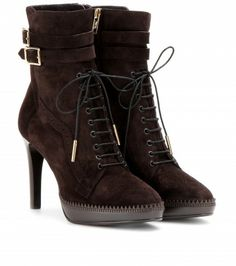 Burberry London - MANNERS BROGUED SUEDE ANKLE BOOTS - mytheresa.com GmbH