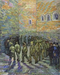 Vincent Van Gogh >> The Prison Courtyard