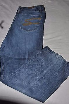 Seven7 5 pocket blue denim medium wash size 18 jeans